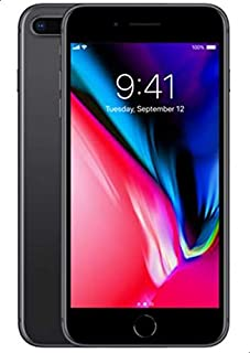 موبايل ابل ايفون 8 بلس بدون فيس تايم، 64 جيجابايت، 4G LTE، رمادي فلكي، RAM 3 جيجابايت، شريحة واحدة