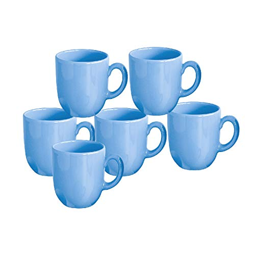CreaTable 14469 Top Kaffeebecher, Steinzeug, 300 ml, hellblau (6 Stück)