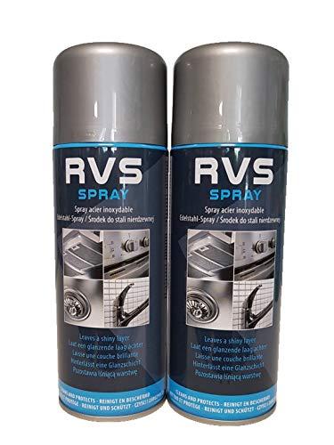 2 x Professional Edelstahlreiniger 400 ml Spray Reiniger Edelstahl VA Pflegespray Küche Gastromonie