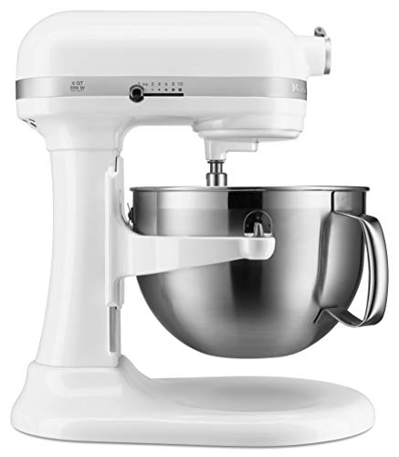 KitchenAid KP26M9XCWH 6-Quart Bowl-Lift Professional Stand Mixer, 6 Qt, White