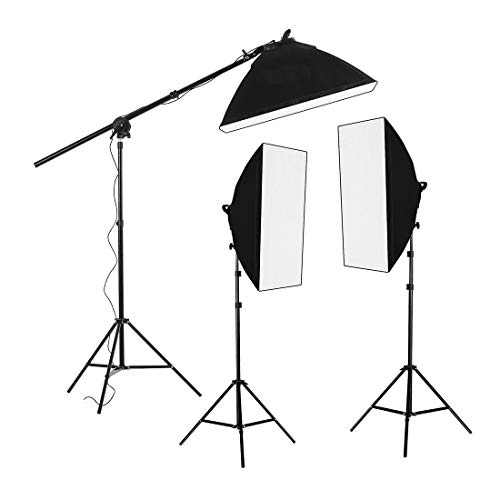 Fancierstudio Lighting Kit 2400 Watt Professional Video Lighting Kit...