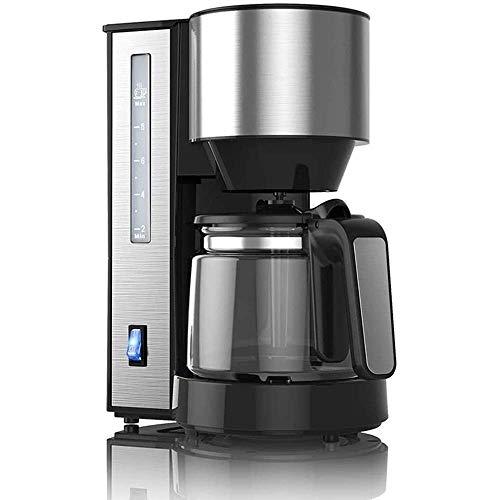 Filtrar Inicio automático de la máquina de café, goteo cafetera con 1,25 litros de cristal Jarra desmontable Filtro de café de la máquina anti-goteo Grinder WTZ012