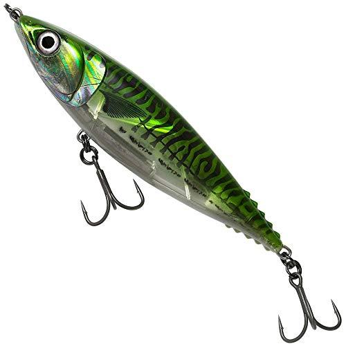 Savage Gear 3D Mack Stick - Meeresköder zum Angeln auf GT, Thunfisch & Snapper, Stickbait zum Meeresangeln, Topwater Bait, Länge / Gewicht:13cm / 50g, Farbe:Green Mackerel