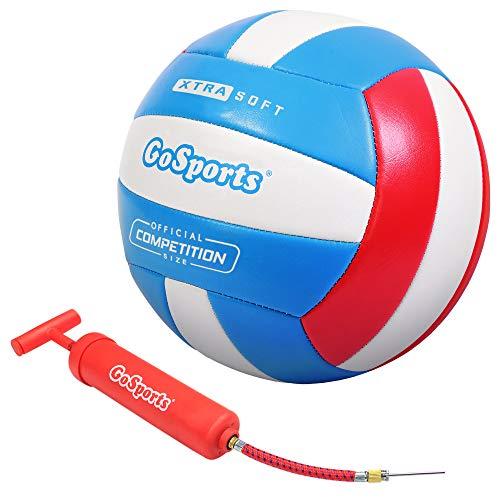 GoSports Bola de vôlei recreativa com toque suave – Tamanho regular para uso interno ou externo – Inclui bomba de bola – Escolha entre um ou 6 pacotes Visite a loja GoSports