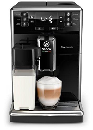 Saeco PicoBaristo SM5460/10 Kaffeevollautomat, 10 Kaffeespezialitäten (integriertes Milchsystem) schwarz