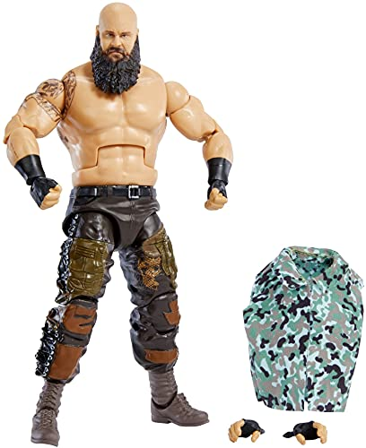 WWE Élite Figura de acción Braun Strowman, muñeca articulada de juguete con...
