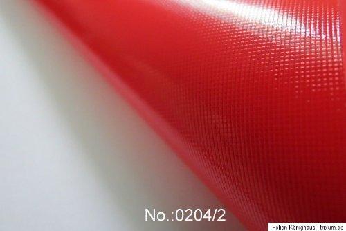 Könighaus (7,23€/m2) Rot Matt Autofolie 200 x 152 cm blasenfrei mit Anleitung