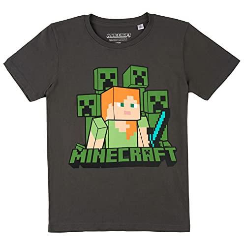 Jungen Creeper T-Shirt (Dunkelgrau, 140)