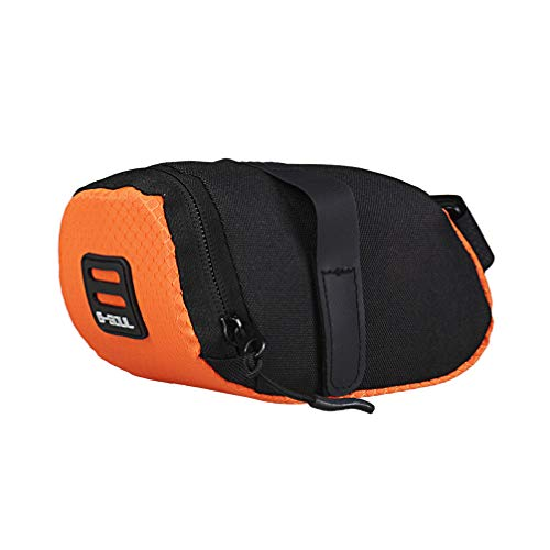 Toporchid Outdoor-Fahrrad Kleine Hecktasche Mini Tragbare Rennrad-Rücksitz-Satteltasche (Orange)