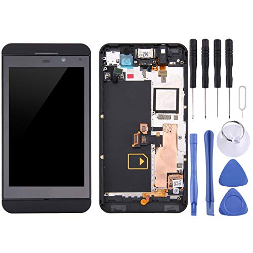 CHEJHUA Pantalla-LCD y digitalizador Asamblea con Marco Completo for Blackberry Z10 4G (Negro) HD (Color : Black)