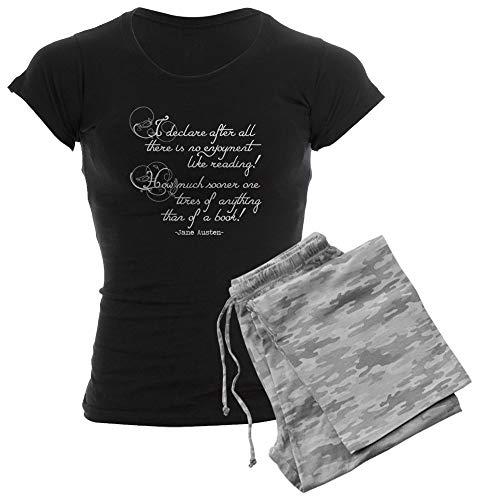 CafePress No Enjoyment Like Reading Womens Novelty Cotton Pajama Set, Comfortable PJ Sleepwear