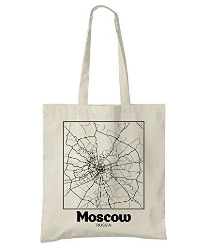 Super Cool Totes Moskau, Russland, Stadtplan Einkaufstasche (Design 2)