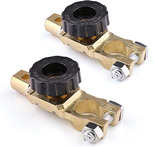 SP-Cow Interruptor de Batería de Coche, 2 Piezas Interruptor de Desconexión de Batería Interruptor Aislador de Batería de 6 a 24V, Interruptor de Batería Terminal para Coche Camión RV Vehículo