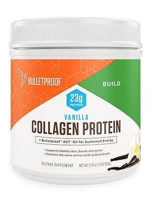 Bulletproof Collagen Peptides Protein Powder - Vanilla Flavored Hydrolyzed, Keto-Friendly for Ketogenic Diet, Grass-fed, Amino Acid Building Blocks with XCT MCT Oil for High Performance (17.6 Ounces)