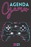 Agenda 2021 Gamer: agenda 2021 semana vista - planificador semanal y mensual 2021 A5 - de enero a diciembre 21 - una Semana en dos Páginas - agenda anual 2021 - regalo videojuegos hombre mujer