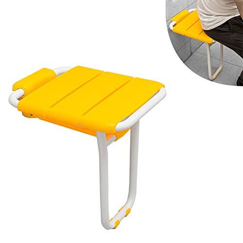 LXYYSG Duschklappsitz, Dusch Badestühle Duschhilfe Klappsitz komfortable Duschsitz zur Wandmontage mit Stützfüßen, für Schwangere, Senioren, Behindert