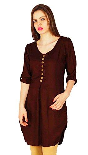 Phagun Phagun Indian Designer Bollywood Kurta Frauen Ethnische Kurti Rayon Top Tunika-Kleid