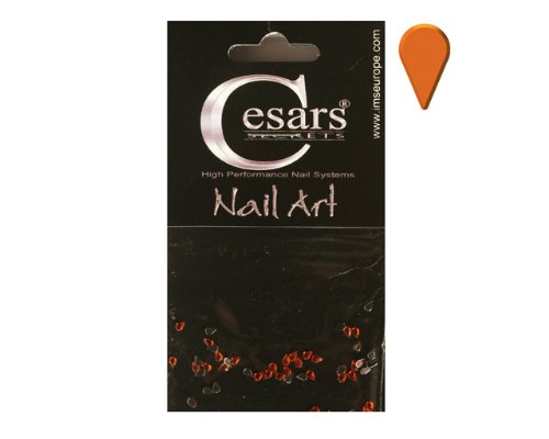 Cesars Nail Art Tear Drops orange