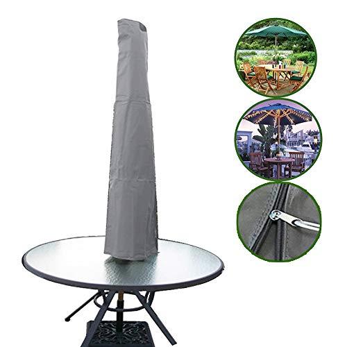 YAOBAO Sonnenschirmabdeckung Für Den Außenbereich, Aufrecht, Wasserdichter Und UV-Stoff-Sonnenschirmbezug Mit Reißverschluss-Aufbewahrungstasche, Graue Schutzhülle Für Den Außenschirm, 2-TLG