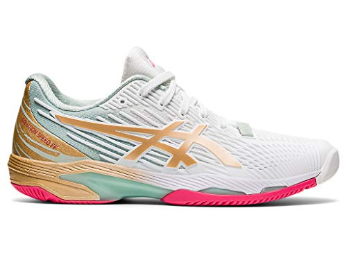 ASICS Women's Solution Speed FF 2 L.E. Tennis Shoes, 7.5M, White/Champagne