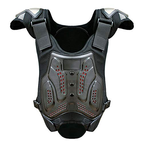 Protective Armor Chest Back Spine Protector, Motorbike Motorcycle Full Body Armor Vest,Protective Riding Biking Vest Jacket, Motocross Gear Guard Dirt Bike Safety Armor Protection,XL