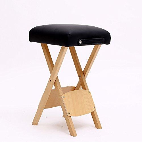 zxqz Tabouret Pliable en Bois Massif/Tabouret de Massage de cosmetología/Tabouret de Studio/Chaussure de Chaussure d'entrée (33 * 56 cm) Tabouret de Stockage Noir