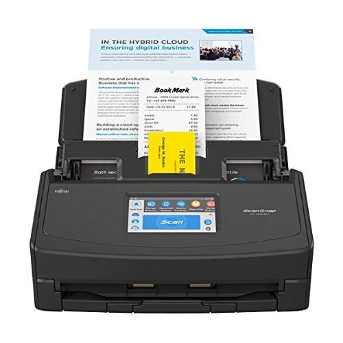 Fujitsu ScanSnap iX1500 Color Duplex Document Scanner with Touch Screen for Mac and PC (Black Model, 2020 Release) (Renewed)