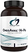Designs for Health OmegAvail Hi-Po - TG (Triglyceride) Omega-3 Fish Oil Supplement, 1500mg EPA/DHA per Serving with Lemon + Vitamin E to Minimize Fishy Taste (120 Softgels)