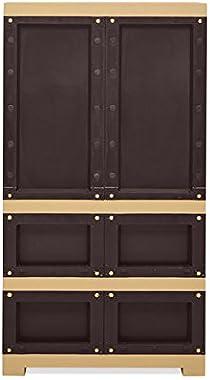 Nilkamal Freedom FMDR2B Plastic Cabinet with 1 Drawer Brown