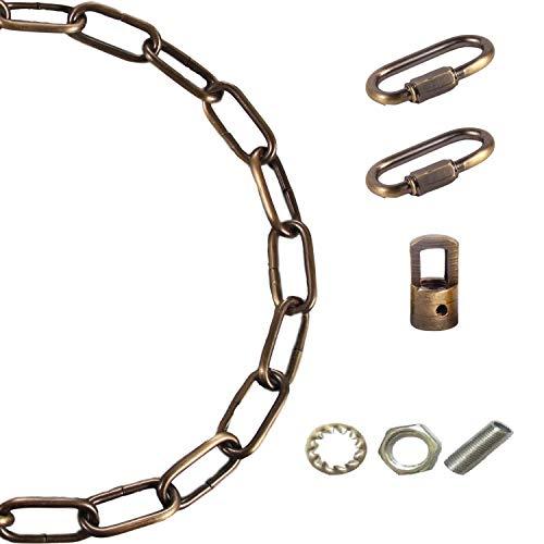 Arncmiv Pendant Light Fixture Chain,Heavy Duty Chain for Light Fixture,Black Ceiling Light Fixture Extra Lighting Chains (Green Bronze,12 inch)