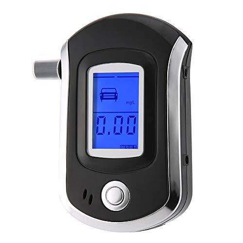 KKmoon Alkoholtester Polizeigenau Alkoholmessgeräte mit Halbleiter Sensor LCD Bildschirm Professioneller Promilletester mit 20 Mundstücke
