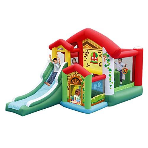Bouncy Castles Children's Inflatable Castle Indoor Children's Slide Children's Toys Outdoor Large Amusement Park Inflatable Castle Kindergarten Children's Trampoline (Size : 260x475x260cm)