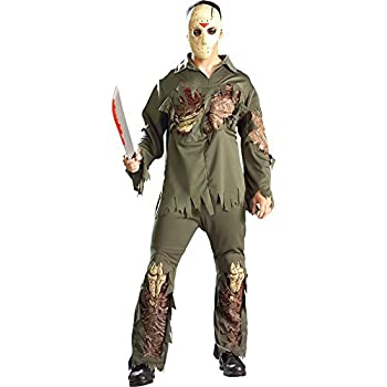 Rubie s mens Friday the 13th  Super Deluxe Jason Costume Party Supplies Multicolor Standard US
