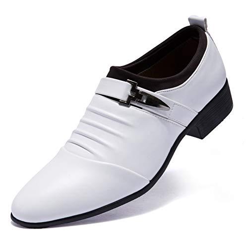 Zhang Herren Lederschuhe/Freizeitschuhe Geschäft/Classic Tages Party & Evening Büro & Karriere Oxfords PU Wear Proof Weiß/Schwarz,Weiß,43