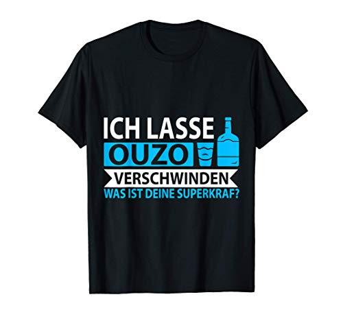 Ouzo Schnaps Griechenland Grieche Geschenk T-Shirt