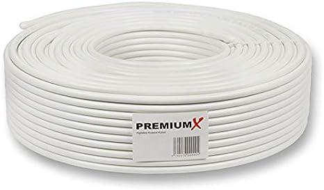 Premiumx Basic 25m Koaxialkabel 135 Db 4 Fach Geschirmt Kupfer Stahl Koaxkabel Antennenkabel Digital Sat Kabel Baumarkt