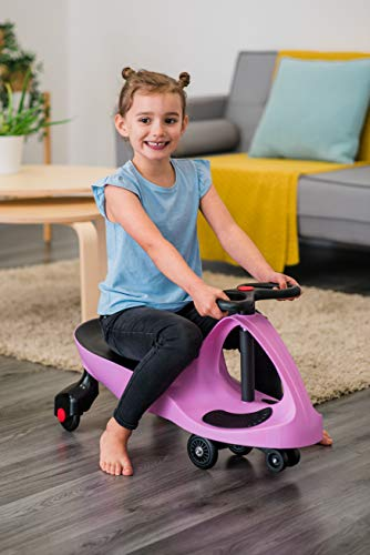 Costello HQ SWING CAR RIDE ON SWIVEL SCOOTER CHILDRENS ADULT BOY GIRL TOY KIDS WIGGLE GYRO TWIST & GO INDOOR OUTDOOR FAST DELIVERYSAME DAY DISPATCH BEFORE 2PMUK SELLER (PINK (1))