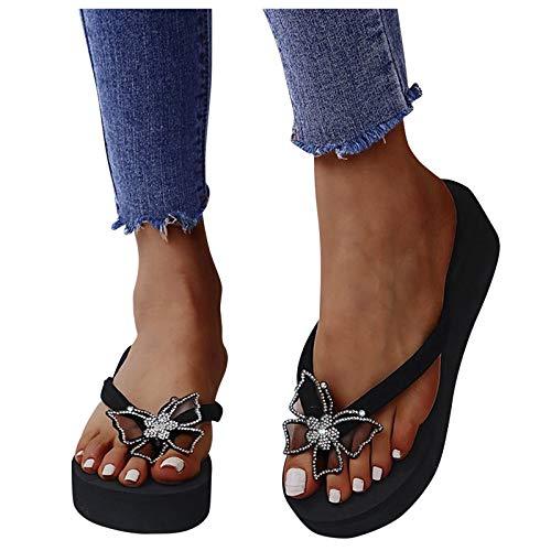 Sandales pour femme avec papillon et strass - Sandales...