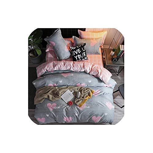 LOVE-JING Green Lemon Winter Bedding Sets Full King Twin Queen King Size 4Pcs Bed Sheet Duvet Cover Set Pillowcase Without Comforter,B20,Sold 1 Pillowcases,Flat Bed Sheet