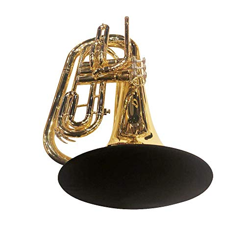 KYT Music Instrument Bell Cover 10'',Washable and Reusable,Dolble-Layer Bell Cover for Baritone Bass Trombone(large bell) Mellophone Marching Trombone Marching Baritone Marching French horn
