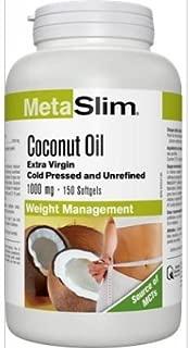 Webber Naturals MetaSlim® Coconut Oil, 1000 mg, 150 Softgels