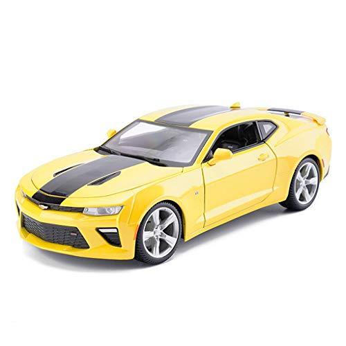 YSDHE Modelo de Coche Coche 1:18 Camaro Bumblebee Simulación de aleación de fundición de Juguetes Adornos colección de Coches Deportivos joyería 26x10.5x7.5 CM (Color : Yellow)