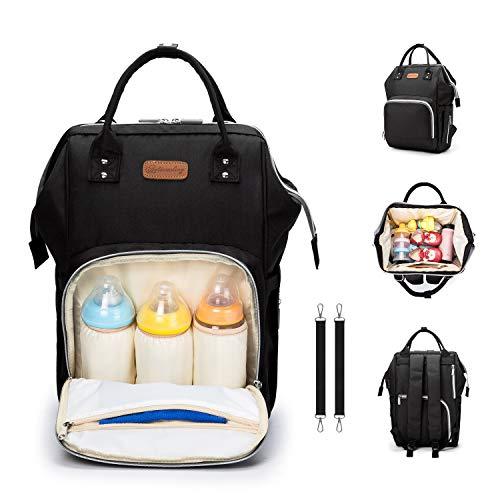 Baby Wickelrucksack Wickeltasche, BETECK Multifunktionale Rucksäcke, Große Kapazität Wasserdichte Babytasche mit 2 Kinderwagen Haken für Baby Damen Herren