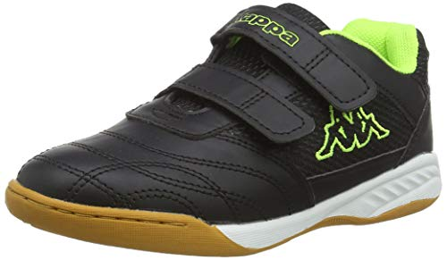 Kappa Unisex-Kinder Kickoff Low-Top, Schwarz (1140 black/yellow), 31 EU