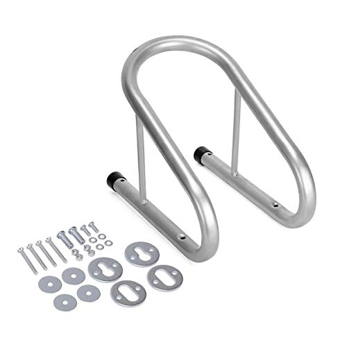 YITAMOTOR Removable Chrome Motorcycle Wheel Chock 5.5' Wide Tire Holder Trailer Truck Locking with Quick Release Hardware, Silver