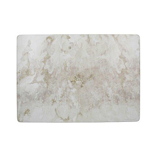 """Creative Tops """"Grey Marble"""" Große Premium-Tischsets mit Korkunterseite, 40 x 29 cm – Grau / Weiß(4er-Set)"""