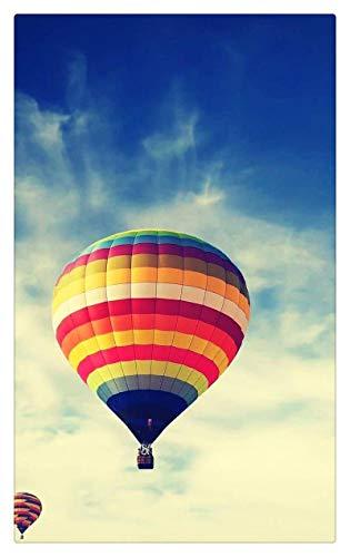 TWYYDP Klassisches Erwachsene Holzpuzzle 1000 Teile Blauer Himmel Farbiger Heißluftballon des Plaids Wohnkultur Gemälde, Plakate