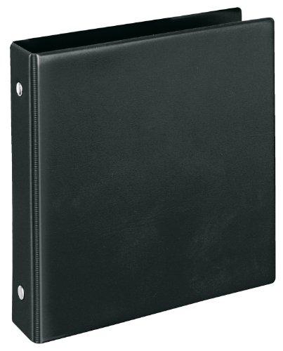 Veloflex 4167080 Karteikartenordner A6, Ringbuch, Ordner, mit Innentasche, PVC, 150 x 160 x 30 mm, schwarz