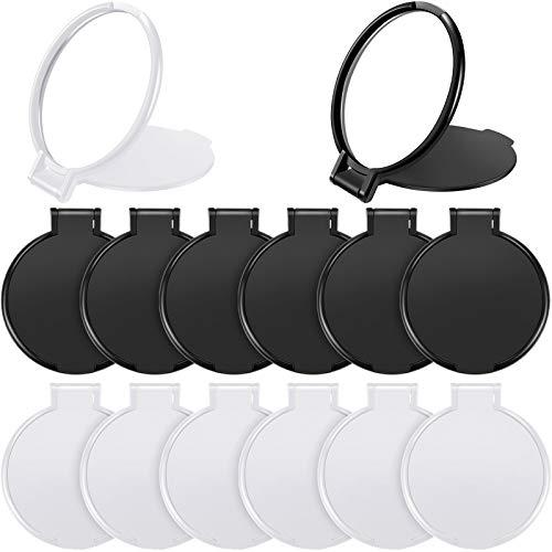 24 Pièces Mini Miroir Pliant Miroir Compact Portable Miroir Rond Miroir Maquillage pour Femmes Filles Voyage d'Utilisation Quotidienne, 2 Couleurs (Noir, Blanc)
