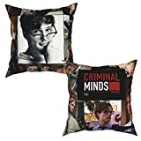 Yuanmeiju Throw Pillow Cases 2 Pieces Mat-Thew Gr-Ay Gub-Ler Cushion Cover Sofa Decor Pillowcases 20'X20'